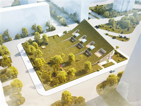 Architect House Plans rastvorgroup slopes punctured roof on kindergarten hill