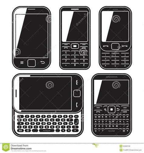 mobile phone set mobile phone set touchscreen and slider royalty free