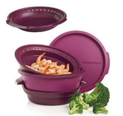 Tupperware Cooking Purple 2pcs tupperware microwave steamer shop collectibles daily