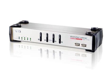 Dijamin 4 Load Audio Switch 4 port usb vga audio kvme switch with ethernet hub cs1774 aten desktop kvm switches