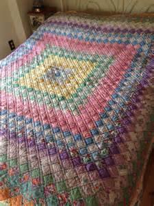 spectacular handmade antique quilt in excellent condition