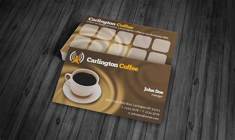 coffee shop loyalty card template coffee cafeteria business card template 187 free