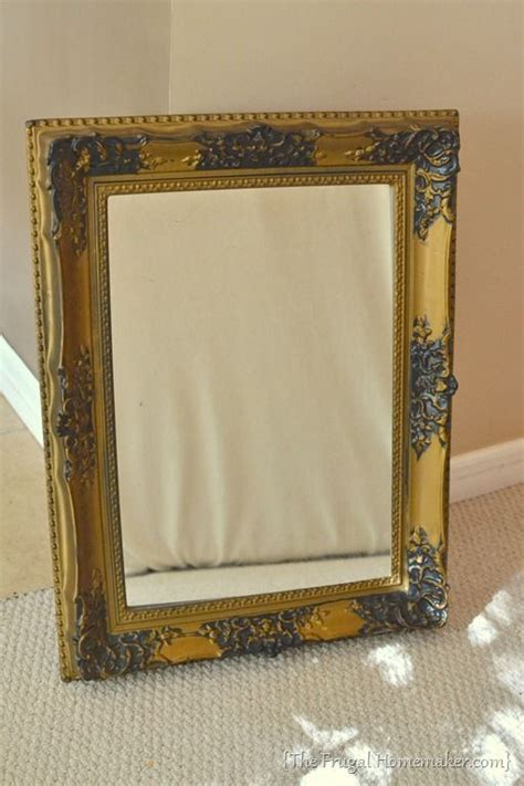 how to spray paint a mirror frame great ideas pinterest