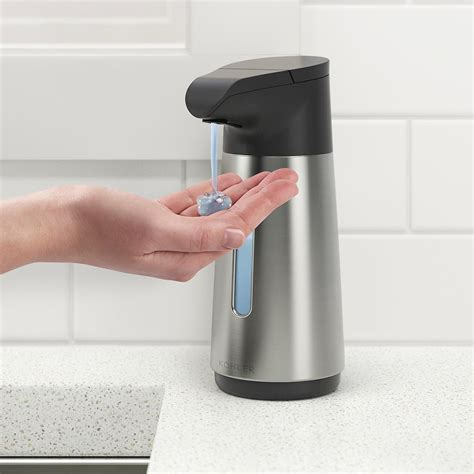 Ideas Design For Touchless Soap Dispenser Kohler 9 Oz Stainless Steel Touchless Automatic Soap Dispenser The Container