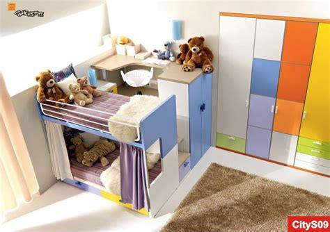 ragazze nel letto camerette doppie due bambini in cameretta