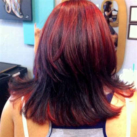 hair clients ombre pictures red ombre highlights on client hair styles
