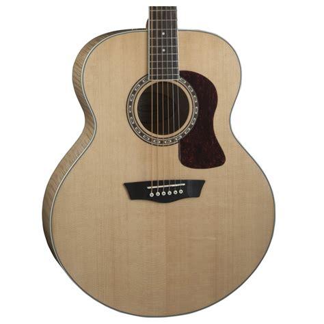 Gitar Akustik Washburn washburn hj40s jumbo acoustic guitar at gear4music ie