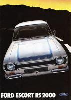 1974 Ford Escort Rs 2000 Brochure