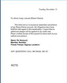 Gym Membership Cancellation Letter Format Your Information Center For All Things Needed