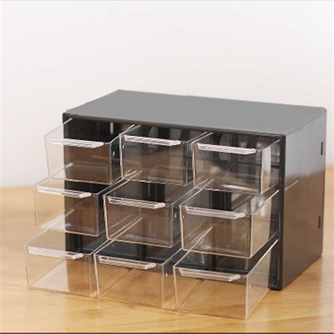 mini desk storage drawers plastic 9 lattice portable mini debris cabinets amall