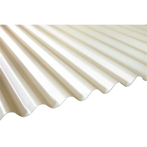 palruf 26 in x 12 ft white pvc roof panel 101339 the