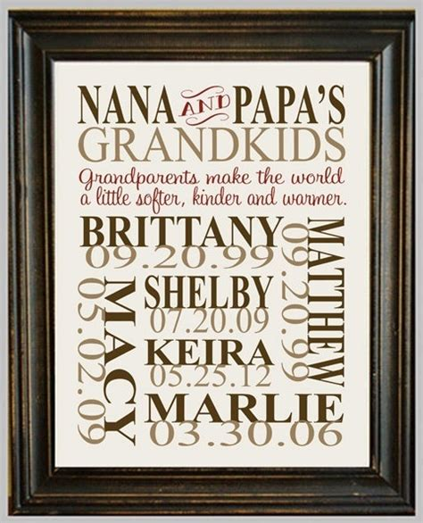 personalized grandparent print gift ideas pinterest