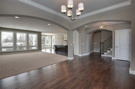 i everything about this color of the walls wood floor the open concept just