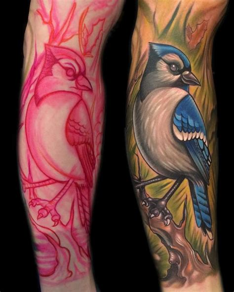 mystic owl tattoo blue by vince villalvazo tattoonow