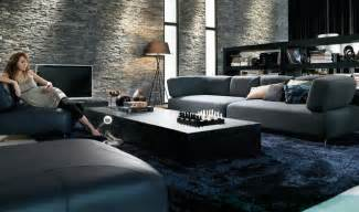 black contemporary furniture living room concept design
