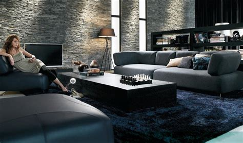Black Contemporary Furniture Living Room Concept Design Black Furniture Living Room Ideas
