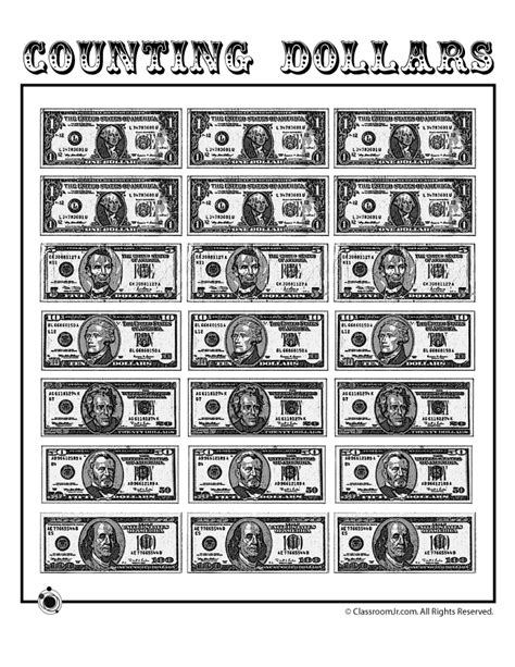 printable paper play dollars woo jr kids activities