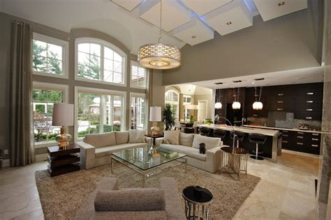 Old oakville open concept living contemporary living room