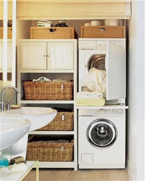 bathroom design  washer  dryer small laundry