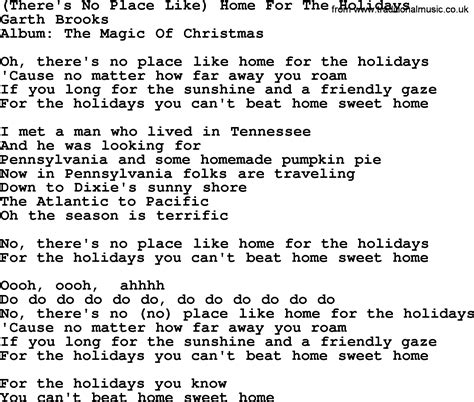 there s no place like home for the holidays by garth