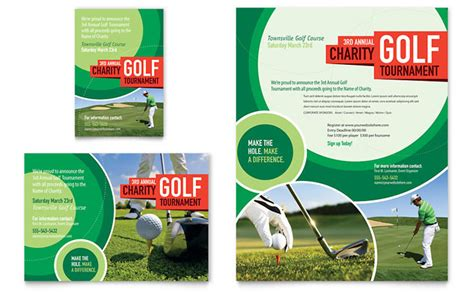 golf brochure templates golf tournament flyer ad template design