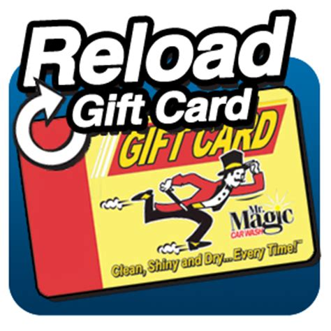 Gift Card Reload - reload gift card the works wash mr magic car wash