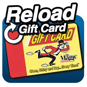 Reload Gift Card - reload gift card the works wash mr magic car wash