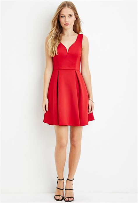 Dress Line S lyst forever 21 pleated a line dress in