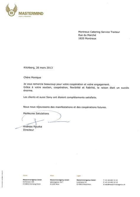 Exemple De Lettre De Remerciement Pour L Obtention D Une Bourse Lettre De Remerciement Suite A Une Rencontre D Affaire