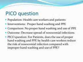 Pico Question Template by Handwashing Ppe Ebp