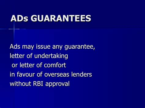 letter of comfort rbi corporate banking latest