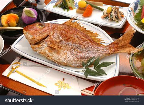 new year fish dish japanese new year fish dish stock photo 185493815