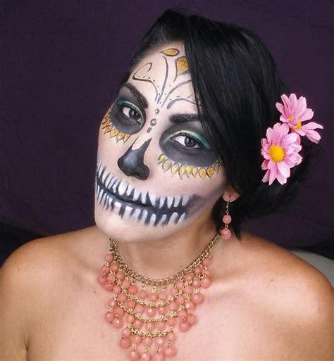 imagenes de catrina halloween maquillaje para halloween catrina sugar skull youtube