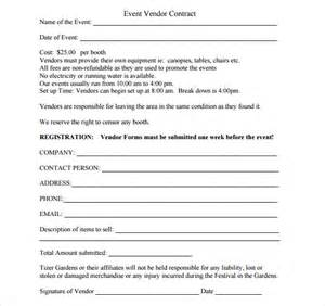 sample vendor contract template 10 free samples
