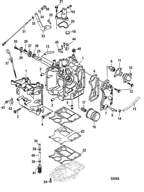 Mercury Marine 15 HP (4-Stroke) Cylinder Block Parts