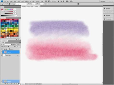 watercolor adobe tutorial watercolor painting in adobe photoshop part 4 5