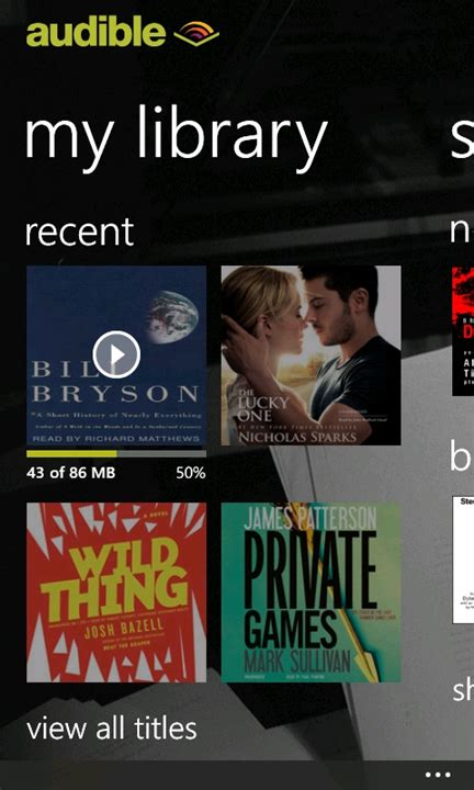 audible mobile store audible for windows phone 7 5