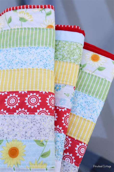 Handcrafted Quilts - oh clementine jelly roll quilt 187 loganberry handmade