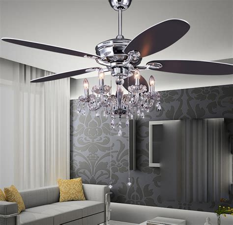 Best Curtain Nice Crystal Ceiling Fan Med Art Home Design Posters