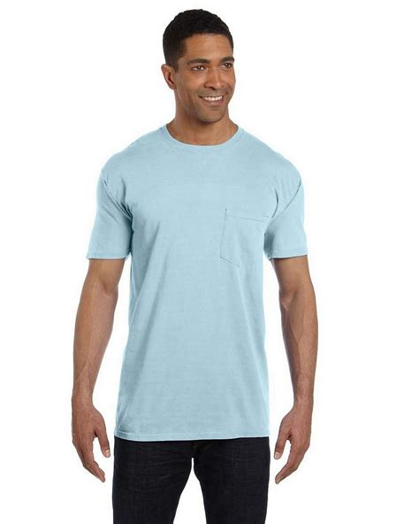 comfort colors chambray comfort colors 6030cc garment dyed pocket t shirt