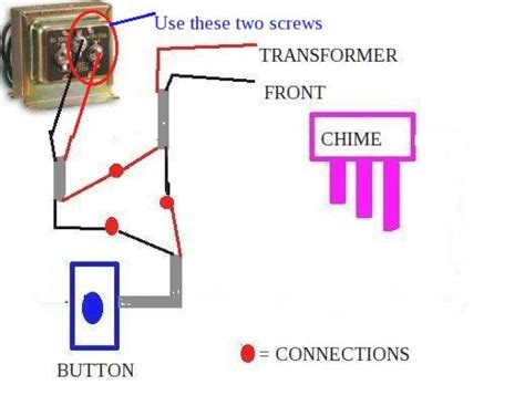 wiring diagram for doorbell transformer comvt inside
