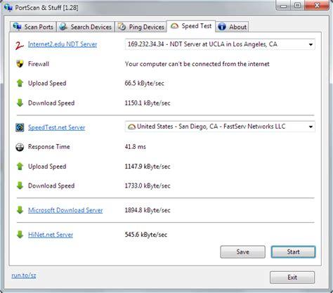 port scan test andrea software portscan 1 43