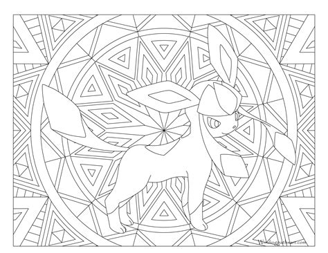 pokemon coloring pages glaceon 471 glaceon pokemon coloring page 183 windingpathsart com