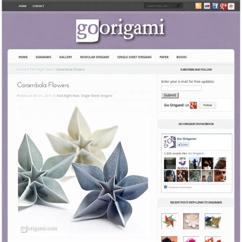 tutorial origami carambola carambola flowers by carmen sprung pearltrees