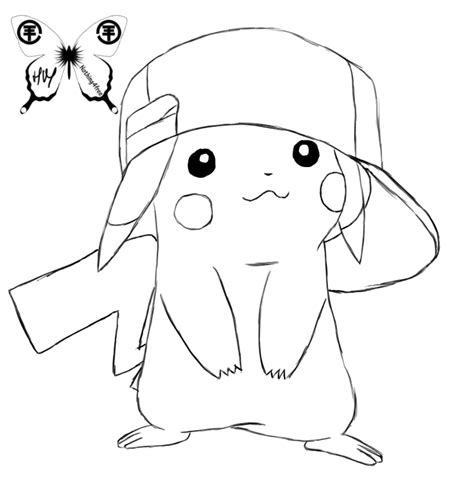 cute pikachu coloring pages cute pikachu by nothing4free on deviantart