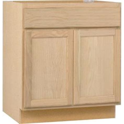 Unfinished Kitchen Base Cabinets Assembled 30x34 5x24 In Base Kitchen Cabinet In Unfinished Oak B30ohd The Home Depot