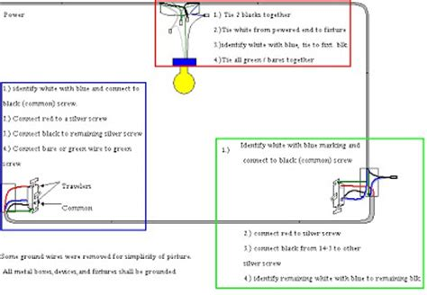 basic help and information wiring a three way switch