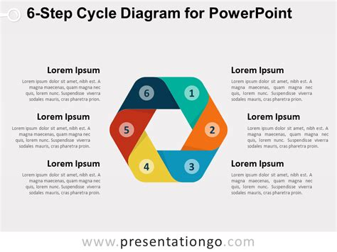 cycle diagram powerpoint 6 step cycle diagram for powerpoint presentationgo