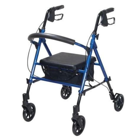 lightweight four wheel walker with seat rollator lightweight walking frame 4 wheel walker