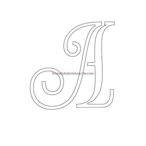 decorative cursive alphabet stencils alphabet stencil